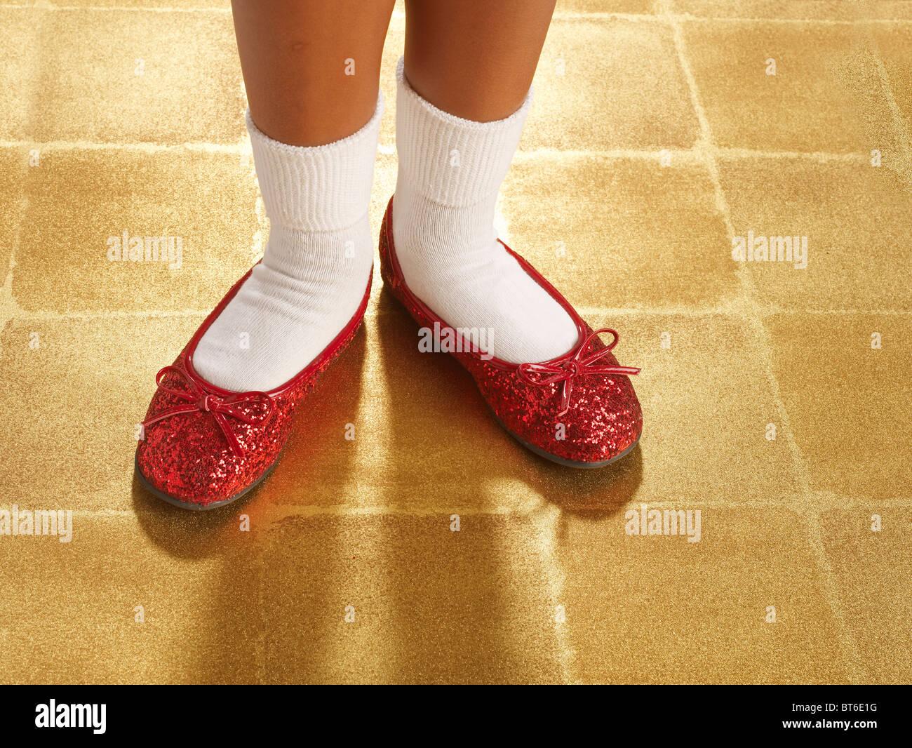 3f9c910c12b ruby red sequin slippers horizontal Stock Photo  32104844 - Alamy