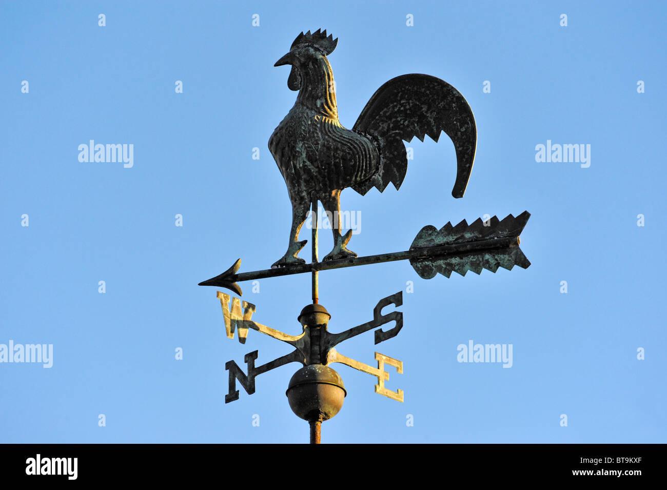 cockerel-weathervane-garth-heads-kendal-cumbria-england-united-kingdom-BT9KXF.jpg