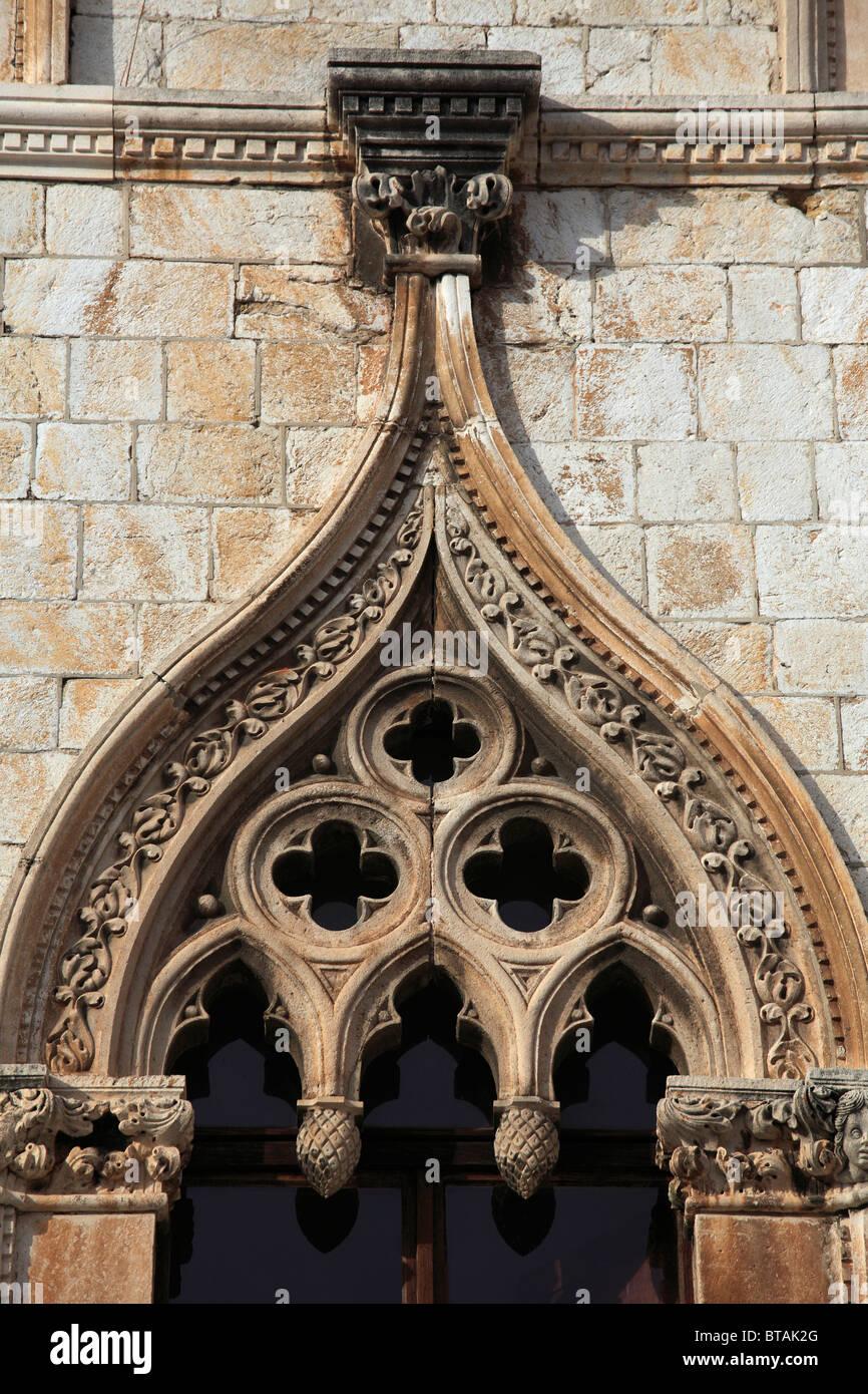 Croatia, Dubrovnik, Sponza Palace, - Stock Image
