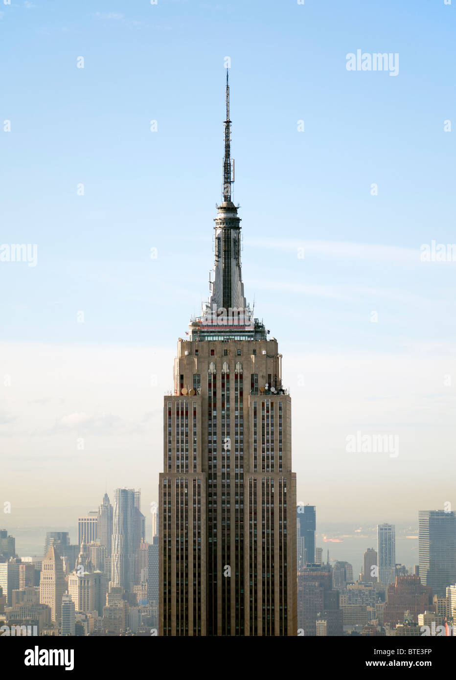 View of the Empire State Building in Manhattan New York City USA - Stock Image