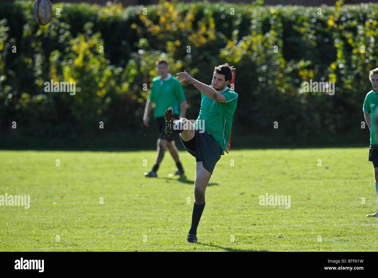A rugby match at a university.Varsity sports afternoon. - Stock Image