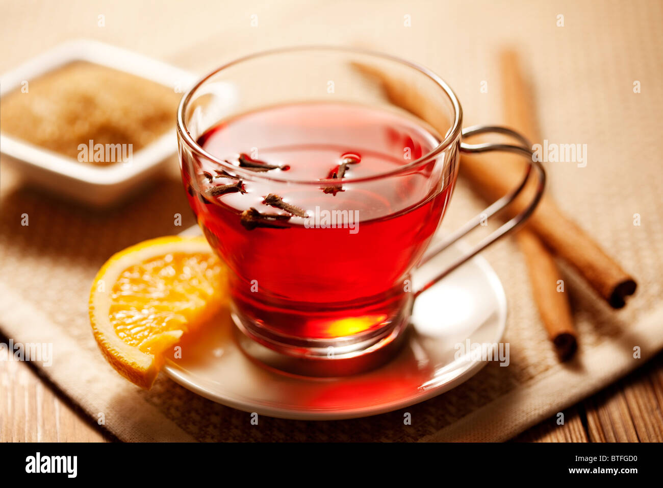toddy or mulled wine - Stock Image