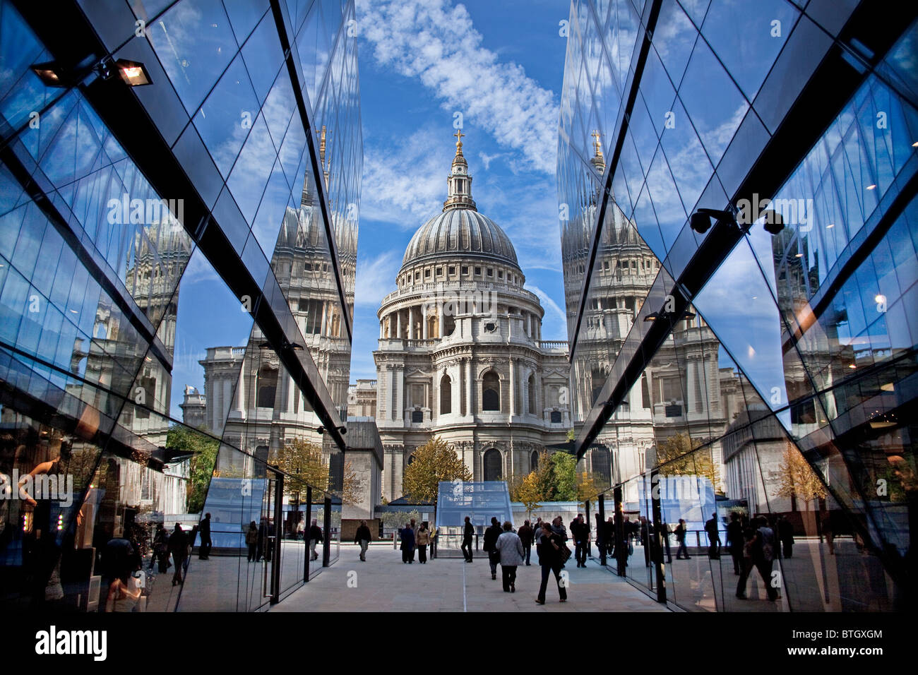 City of London View of St Paul's from One New Change shopping centre October 2010 Stock Photo