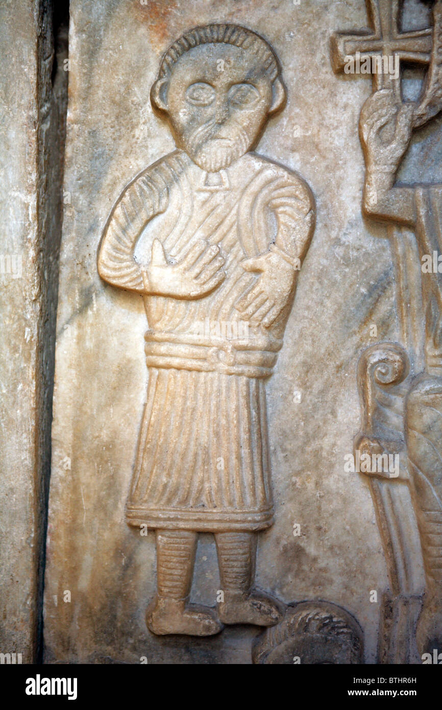 Early medieval slab in the Temple of Diocletian palace, Split,  Split-Dalmatia county, Croatia