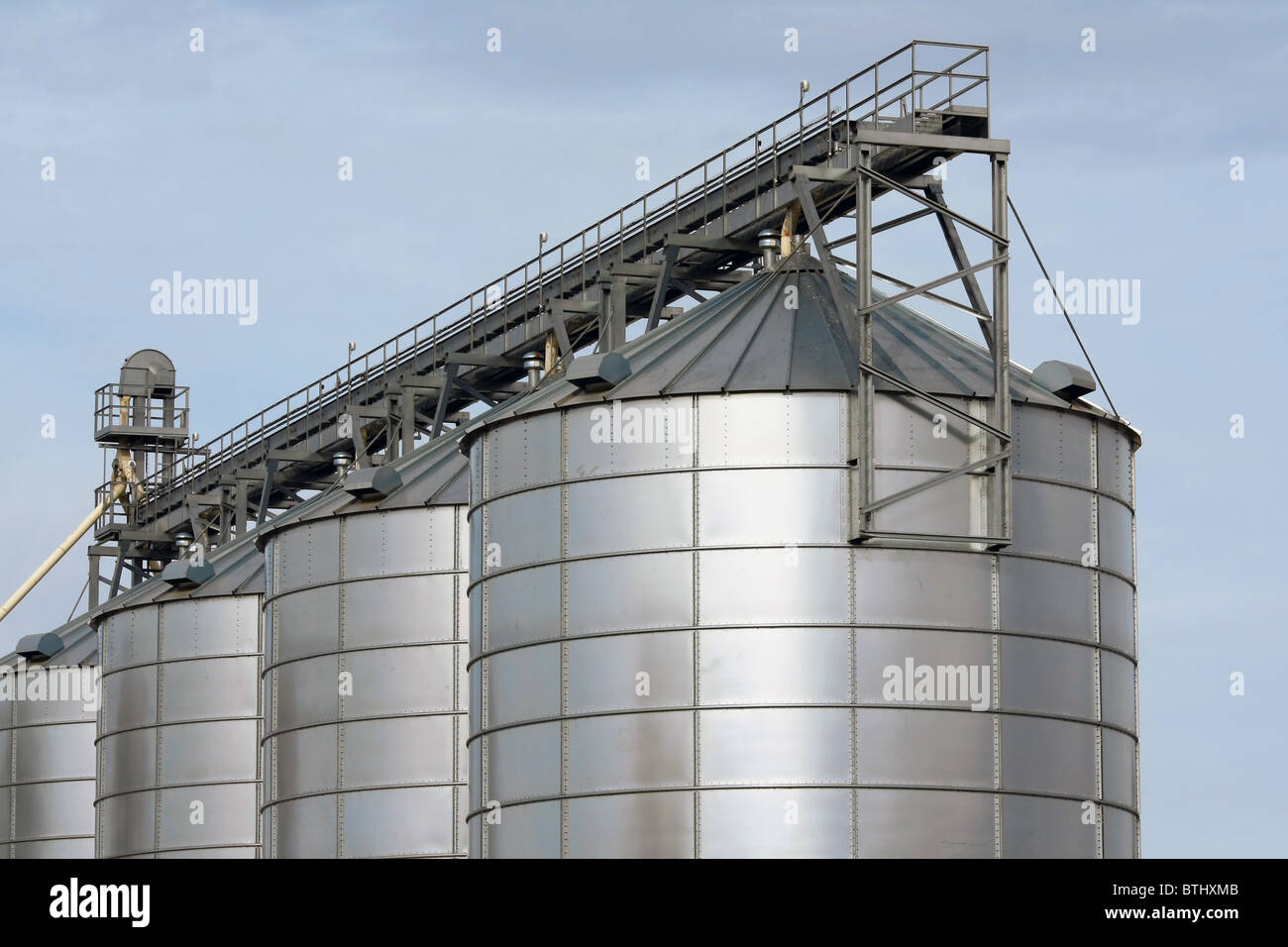 agricultural storage tanks - Stock Image