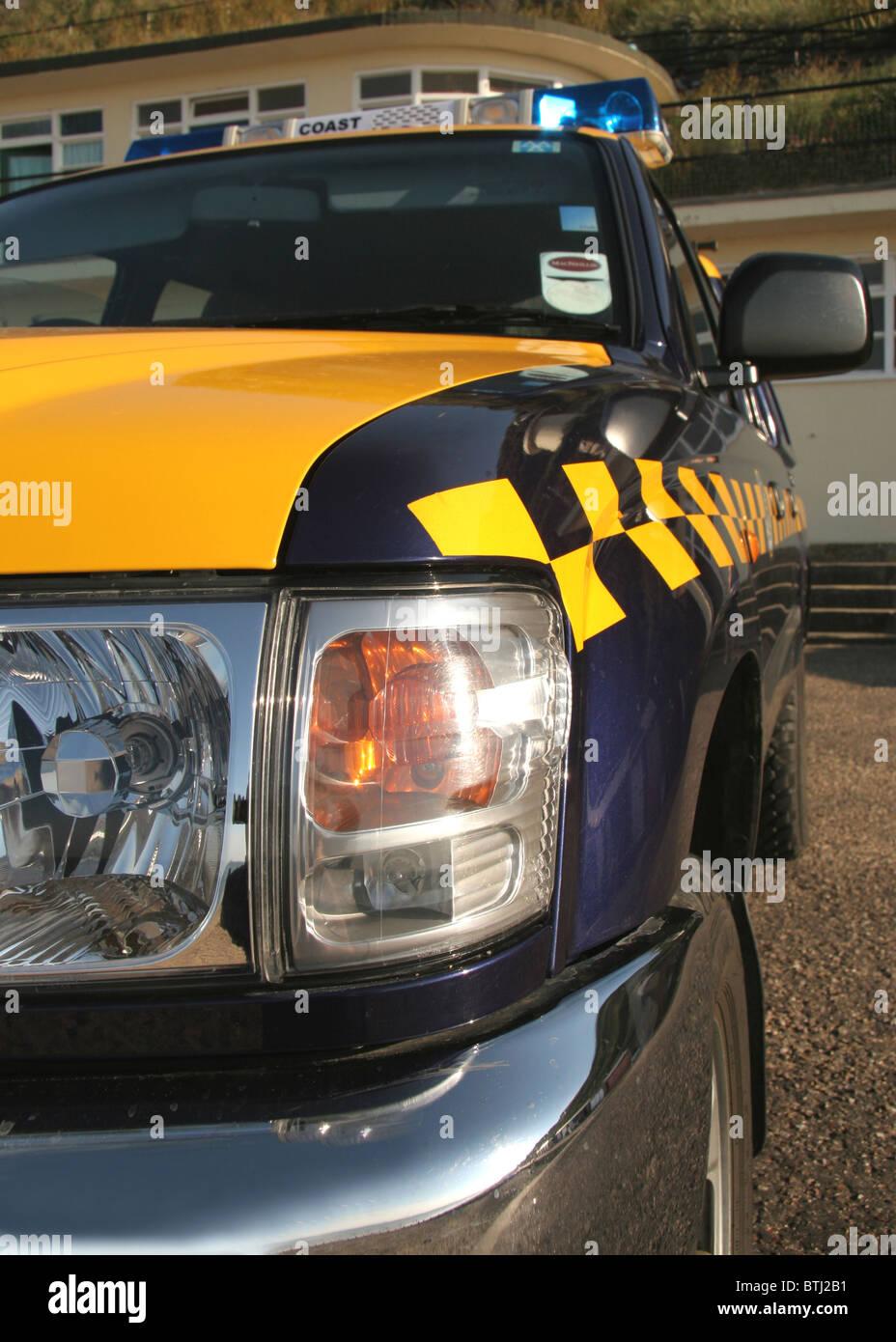 H.M Coastguard Coastguard Rescue Vehicle CRV at Cromer. - Stock Image