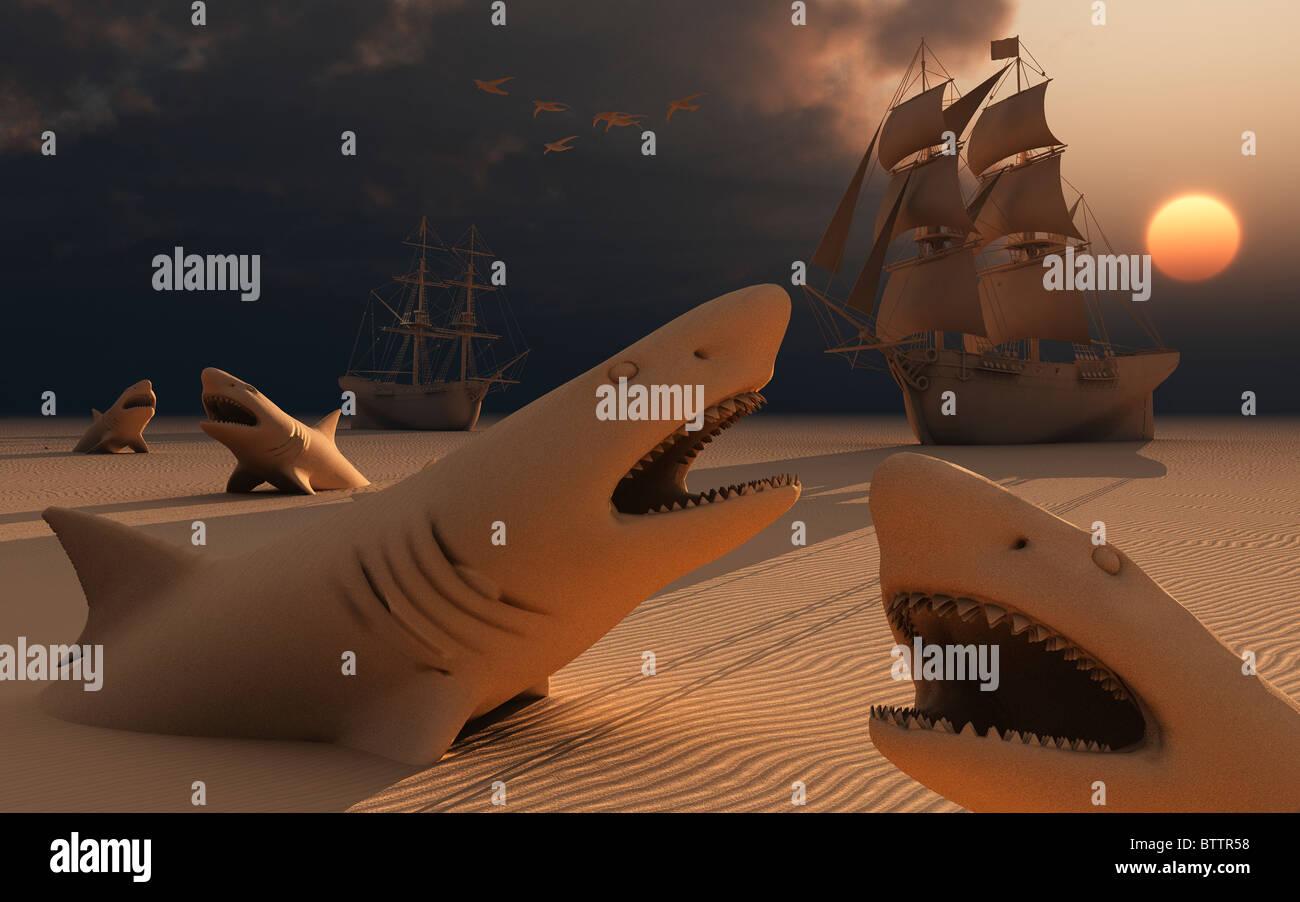 Dangerous Sands - Stock Image