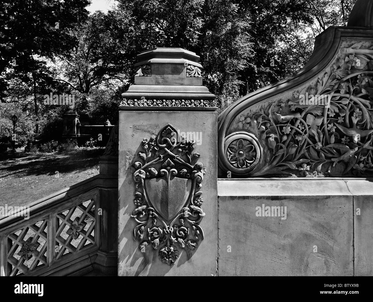 Historical architectural details, Central Park, New York City. - Stock Image