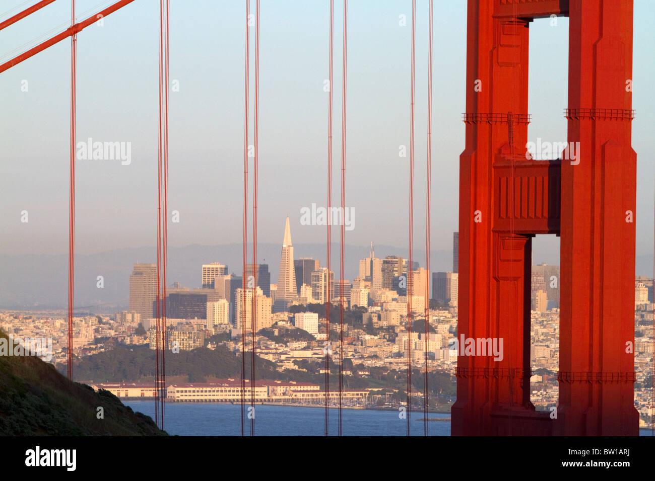The Golden Gate Bridge and the city of San Francisco, California, USA. - Stock Image