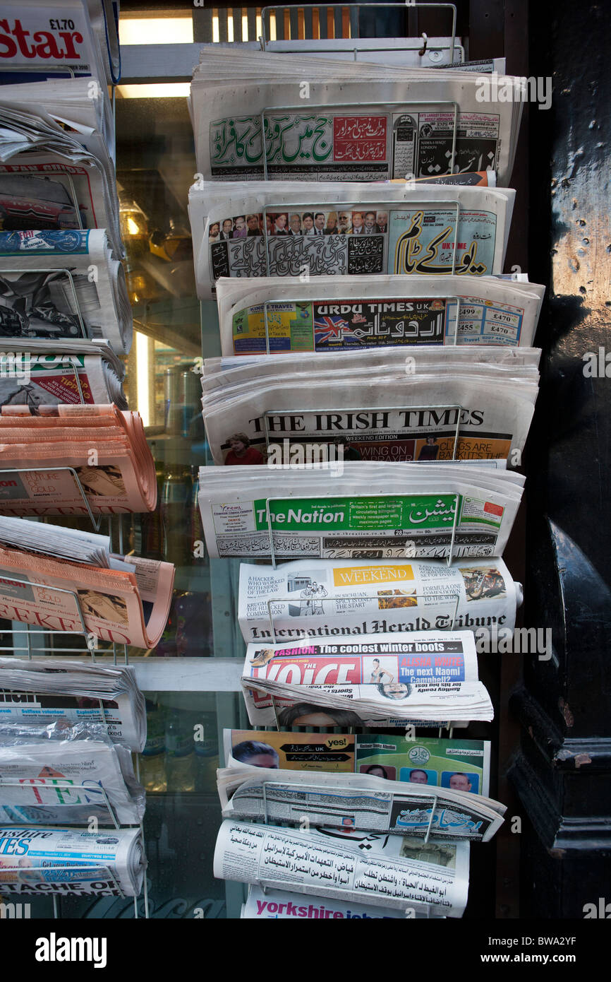International and local newspapers - Stock Image