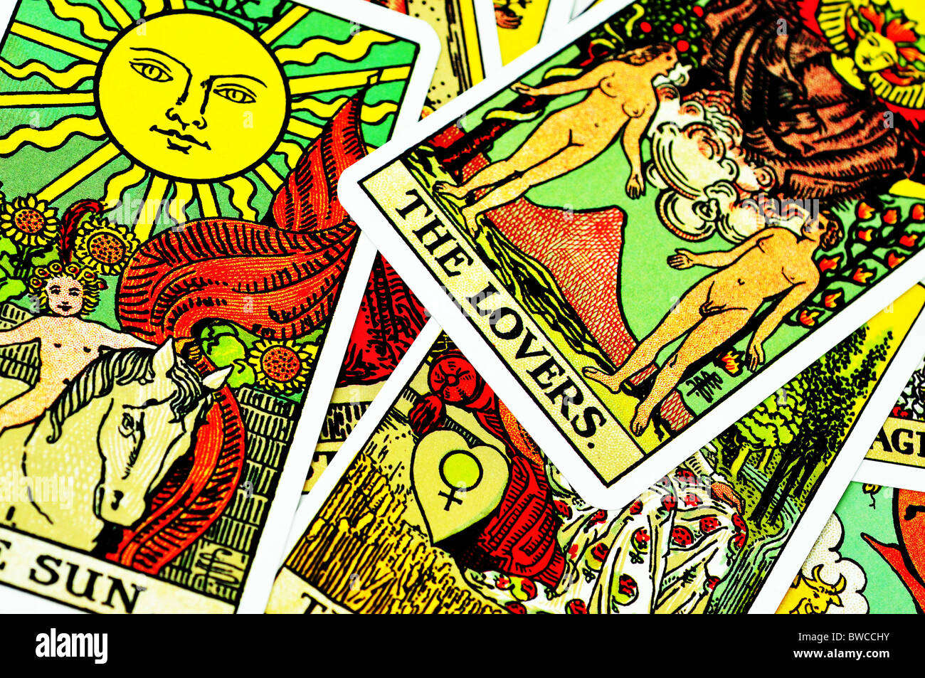 Fortune telling Tarot cards