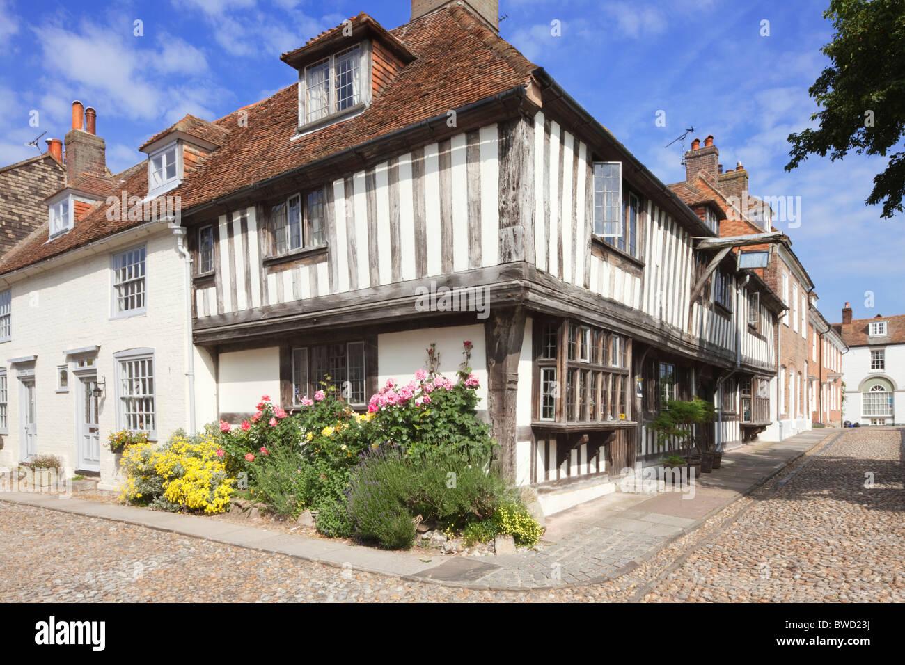 Watchbell Street; Rye; East Sussex; England, Great Britain - Stock Image