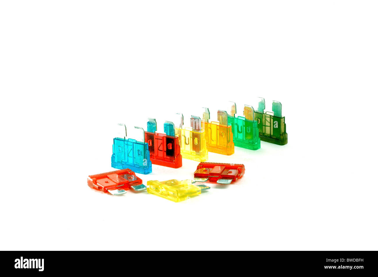 color car fuses - Stock Image