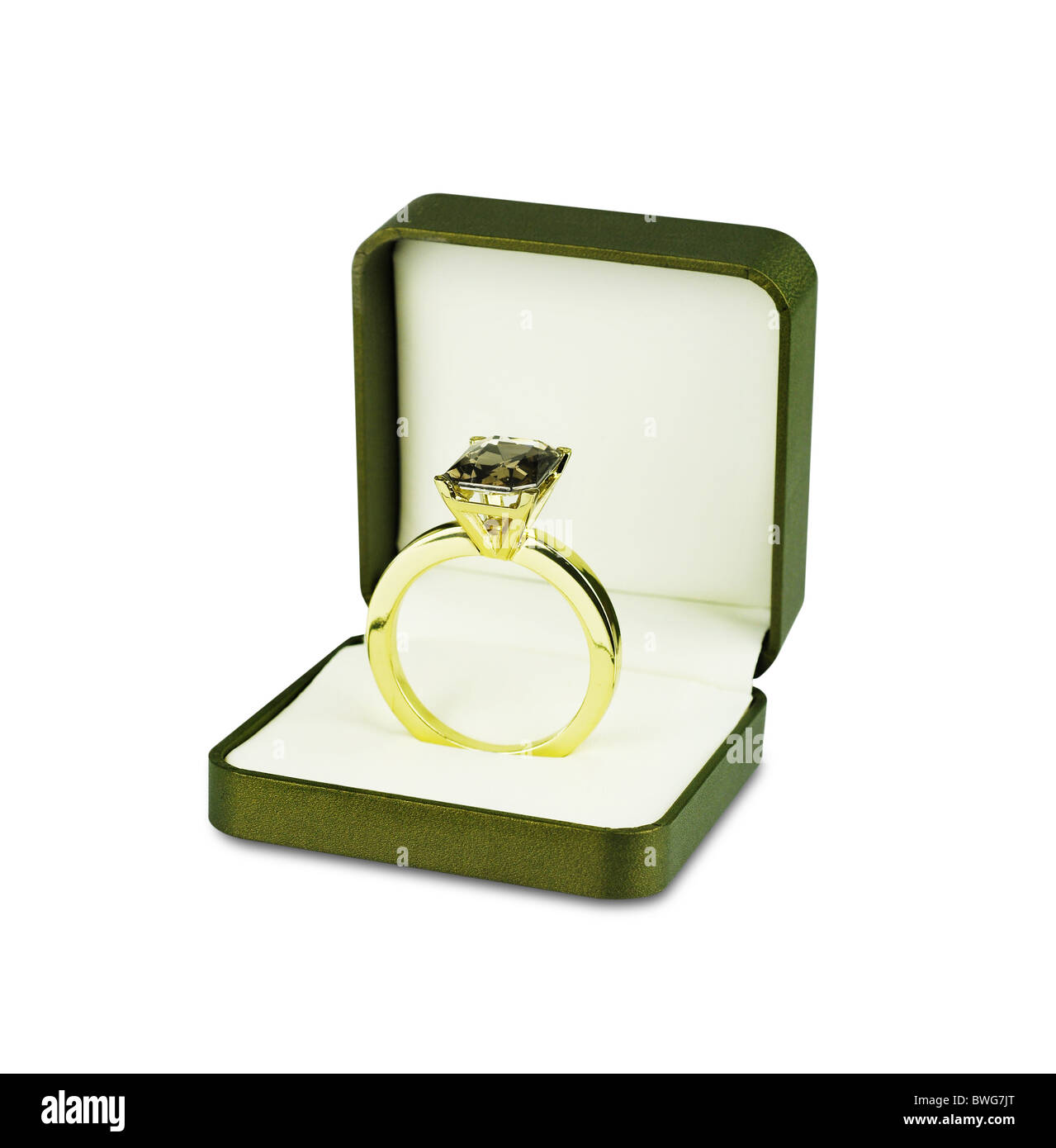 Diamond Ring Inside Jewelry Box Stock Photo 32934016 Alamy