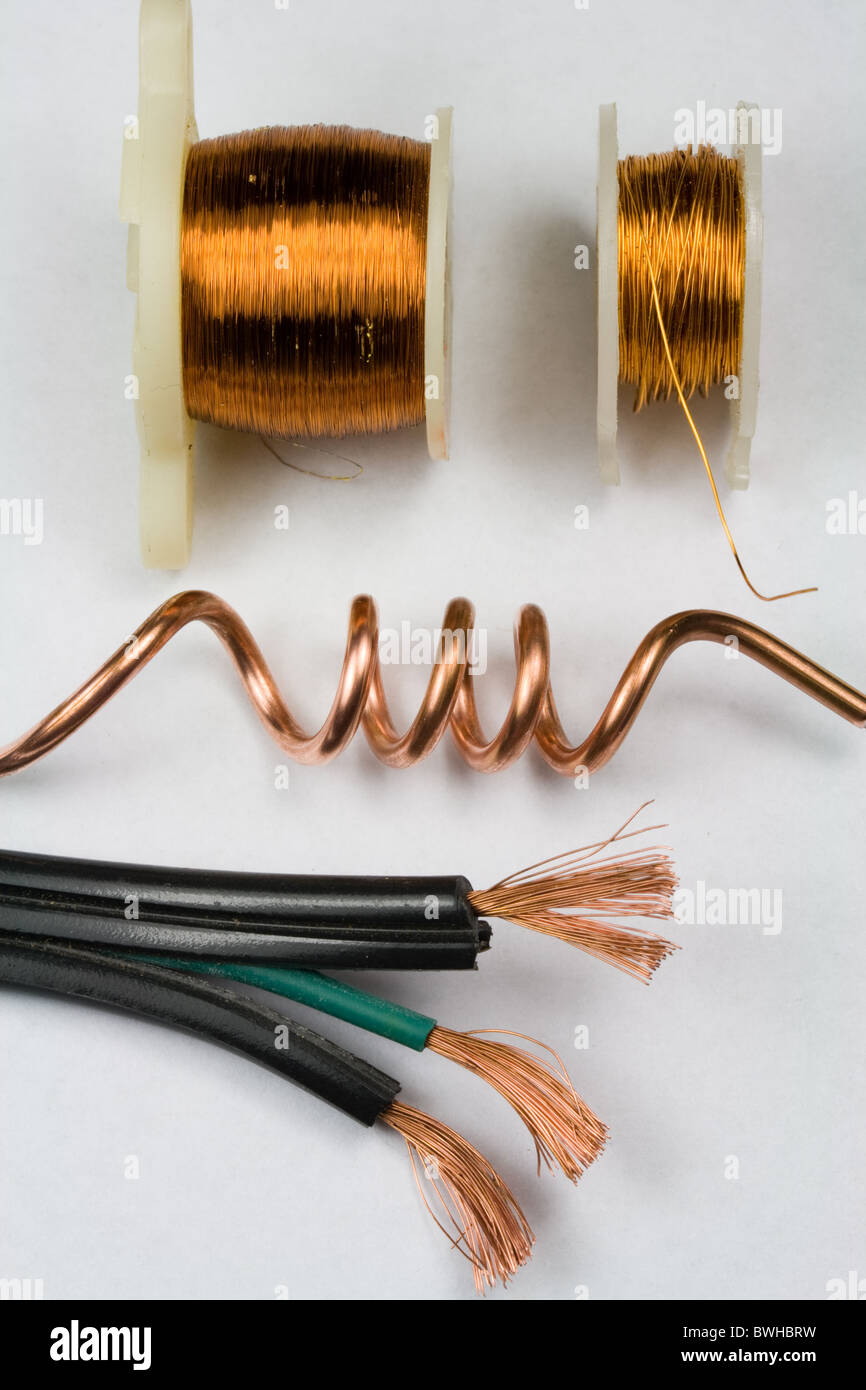 Copper Electrical Wire - Stock Image