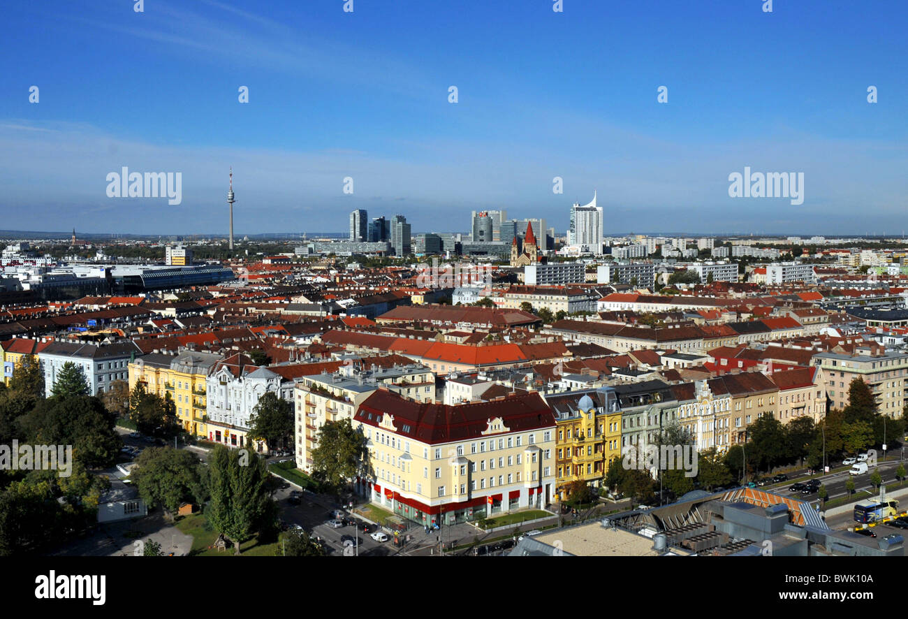 Vienna, Austria, Europe, view over the capital city of Vienna in Austria - Stock Image