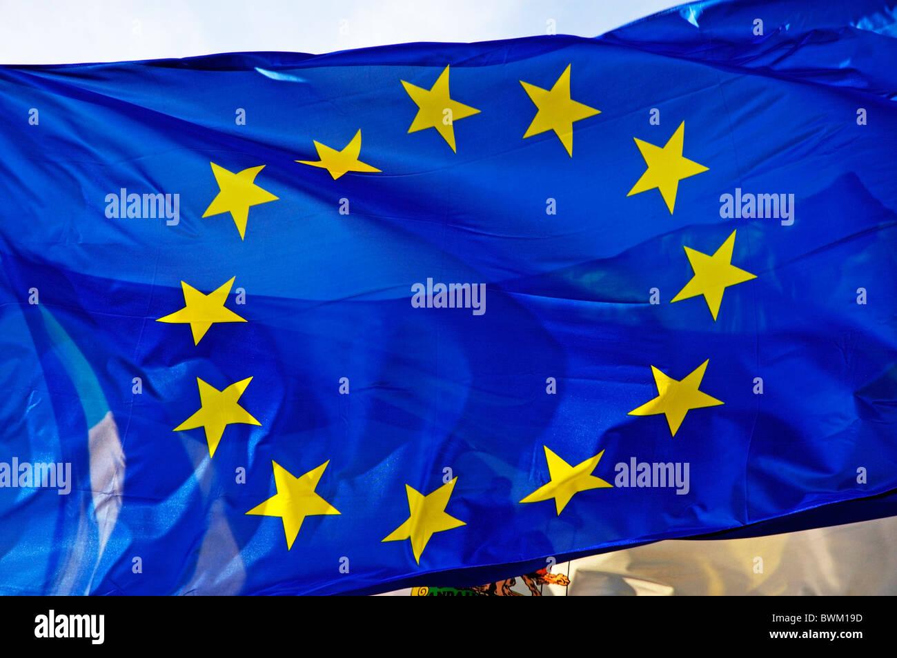 European Union EU Flag - Stock Image