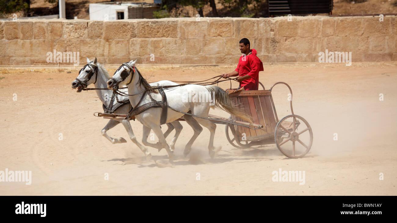 Roman chariots race, Jerash, Jordan - Stock Image