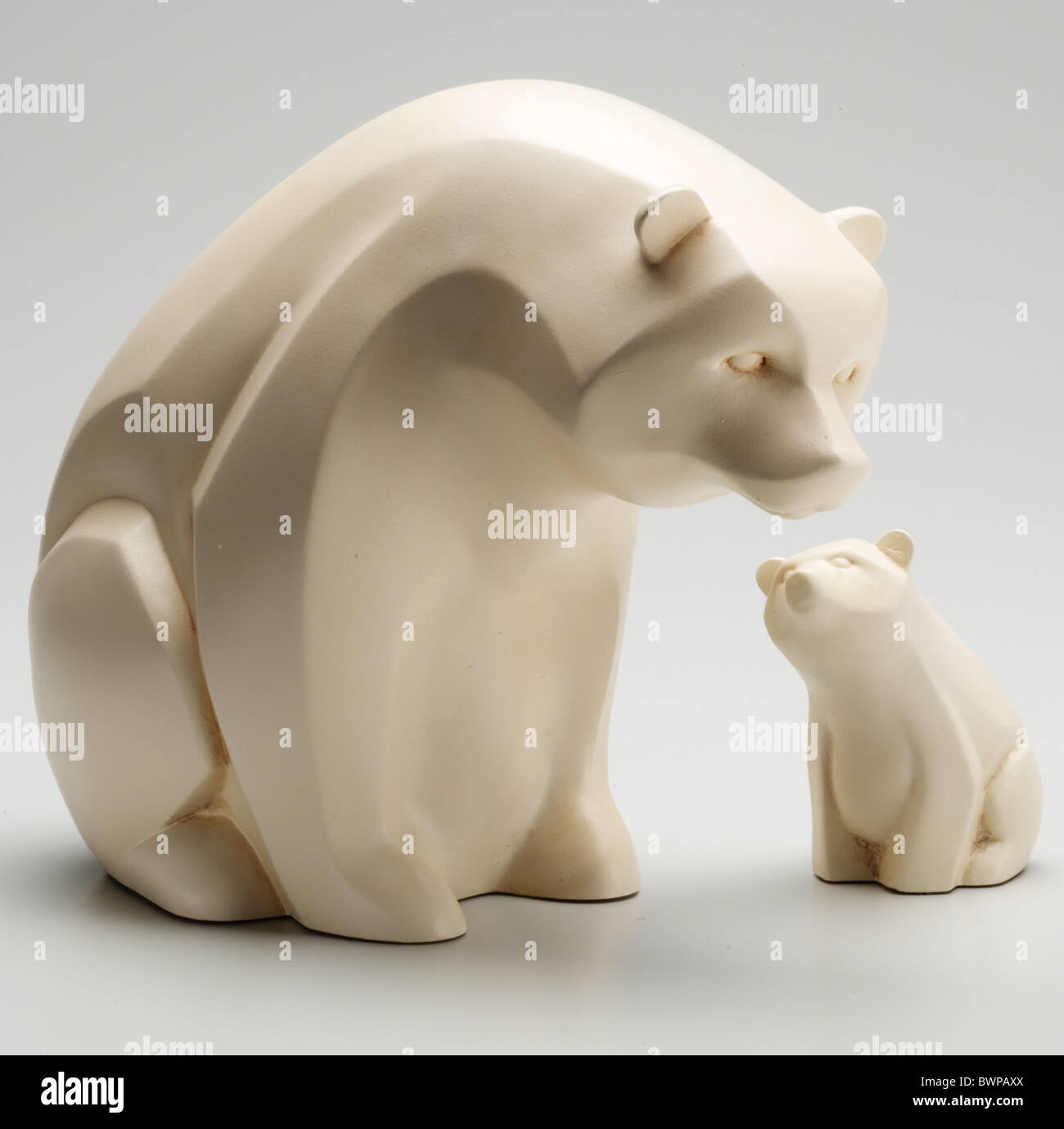 Polar bear sculpture - Stock Image