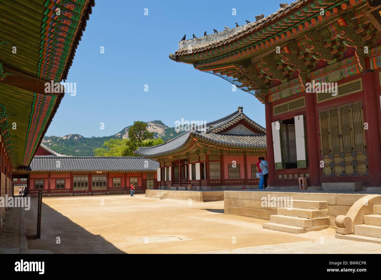 Gyeongbokgung Palace Seoul South Korea. JMH3905 - Stock Image