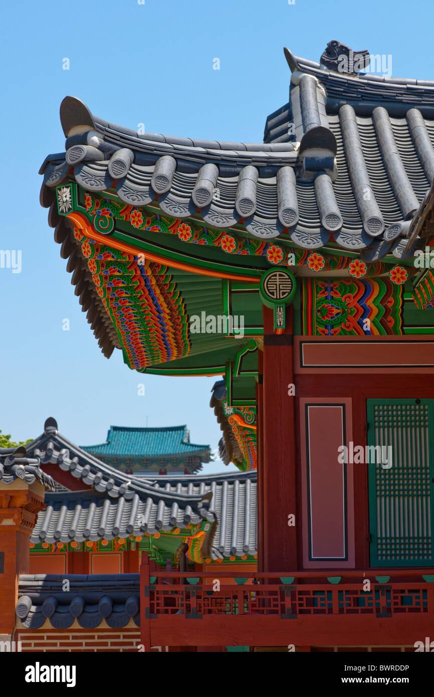 Gyeongbokgung Palace Seoul South Korea. JMH3938 - Stock Image