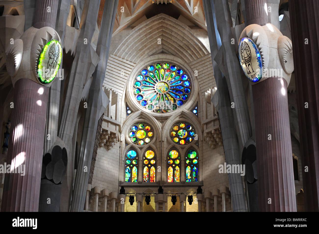 Sagrada Familia Antoni Gaudí Barcelona Spain Catalonia - Stock Image