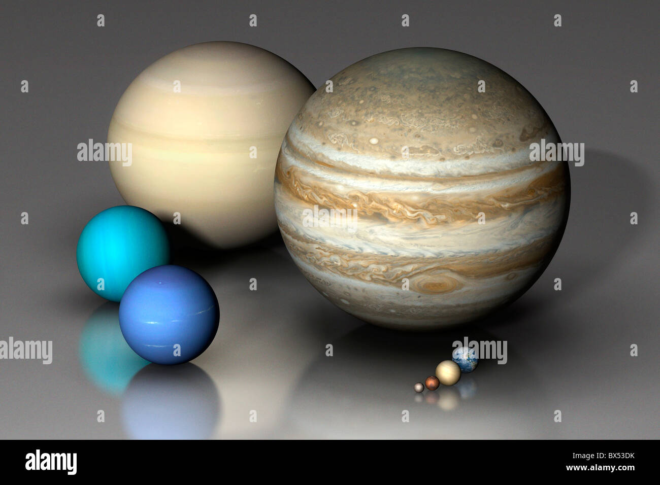 Planets Compared - Stock Image