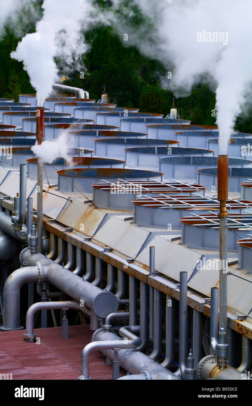 Taken in a geothermal installation in the Azores - Stock Image