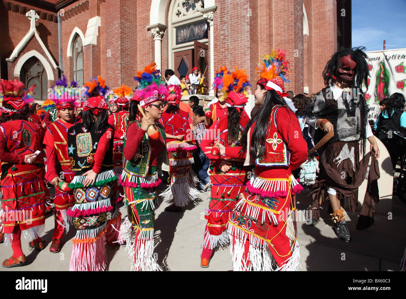 mexican festival celebrating the virgin mary catholic church