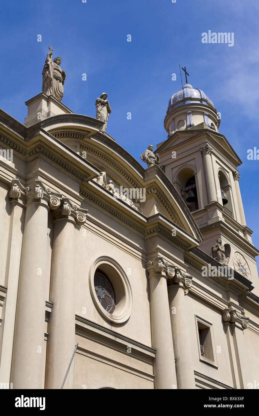 Cathedral in the Old City District, Montevideo, Uruguay, South America - Stock Image