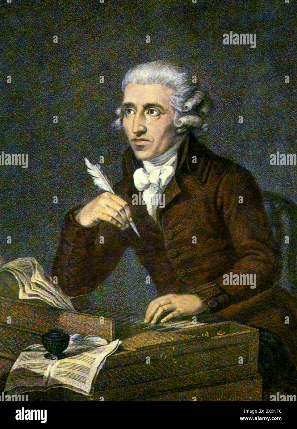 Haydn, Joseph, 31.3.1732 - 31.5.1809, Austrian composer, portrait, print after painting by Ludwig Gutterbrunn, circa Stock Photo
