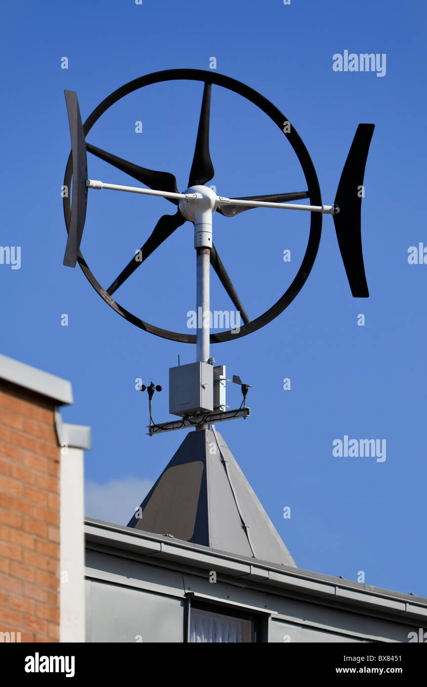 a roof mounted wind turbine in london england - Roof Turbine