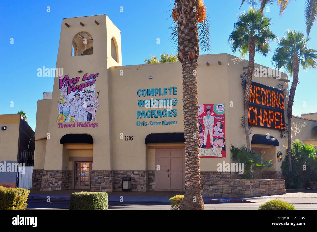 Viva Las Vegas Themed Wedding Chapel In Las Vegas Nevada Usa Stock
