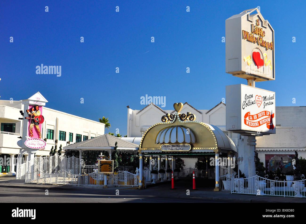 Drive Through Wedding Chapel   Drive Through Wedding Chapel In Las Vegas Nevada Usa Stock Photo