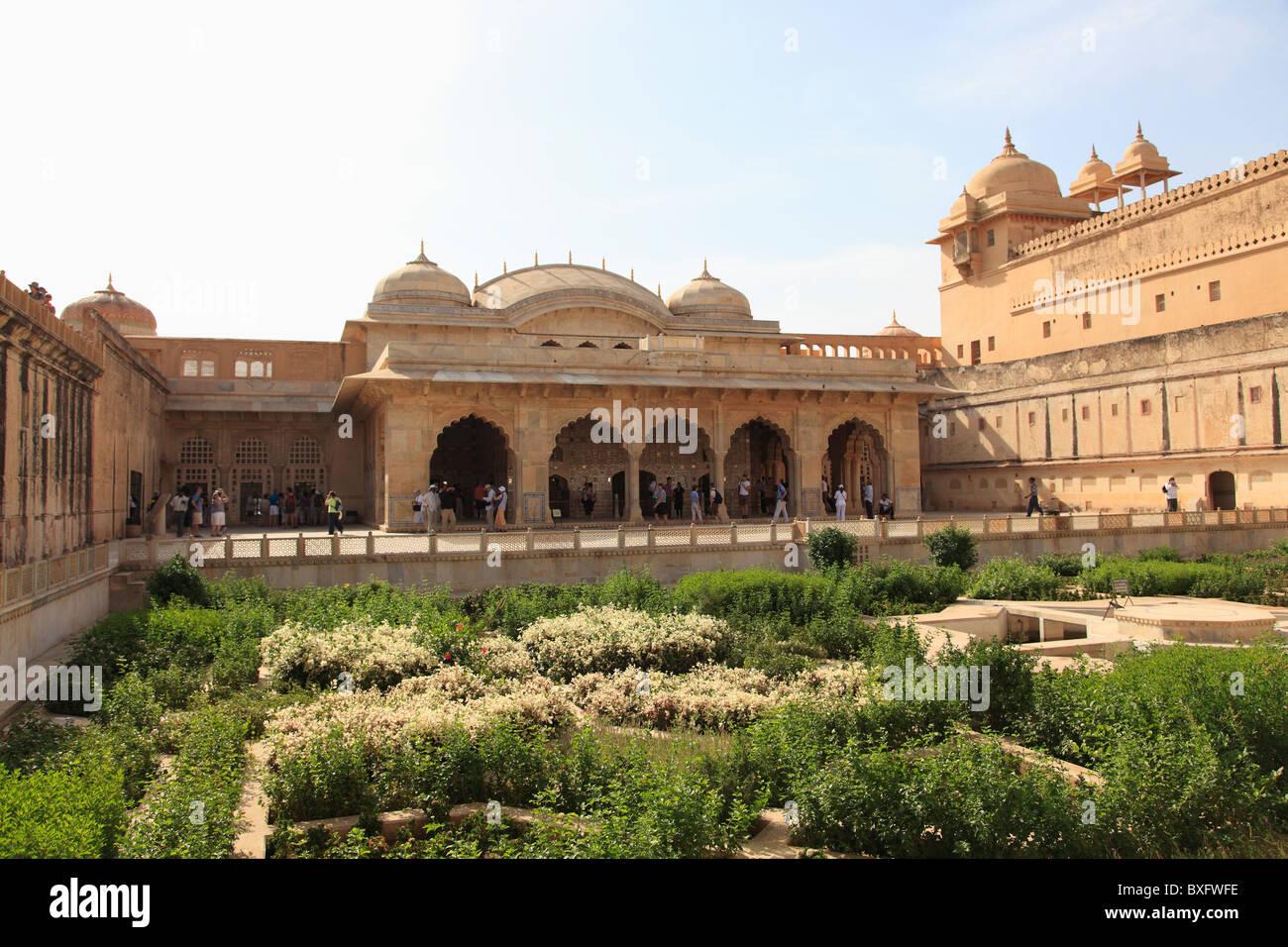 Royal Gardens, Amber Fort Palace, Jaipur, Rajasthan, India, Asia ...