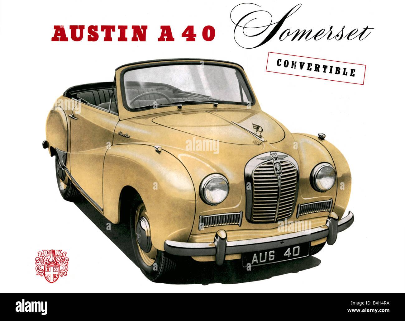 Transport Transportation Car Vehicle Variants Austin A 40 Stock