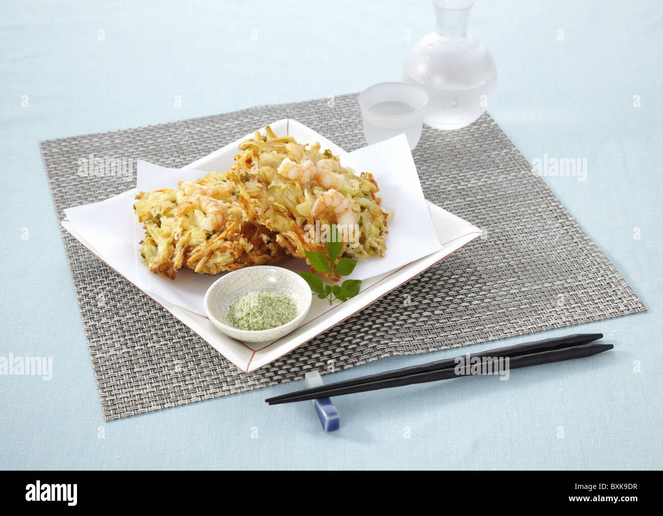 Mixed vegetable and seafood tempura Stock Photo