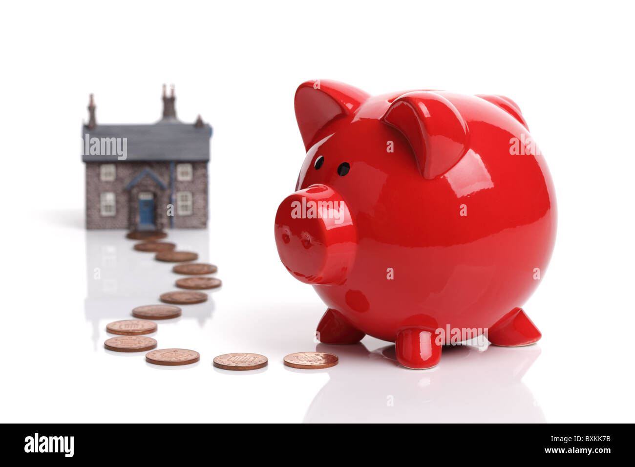 Saving to buy a house - Stock Image