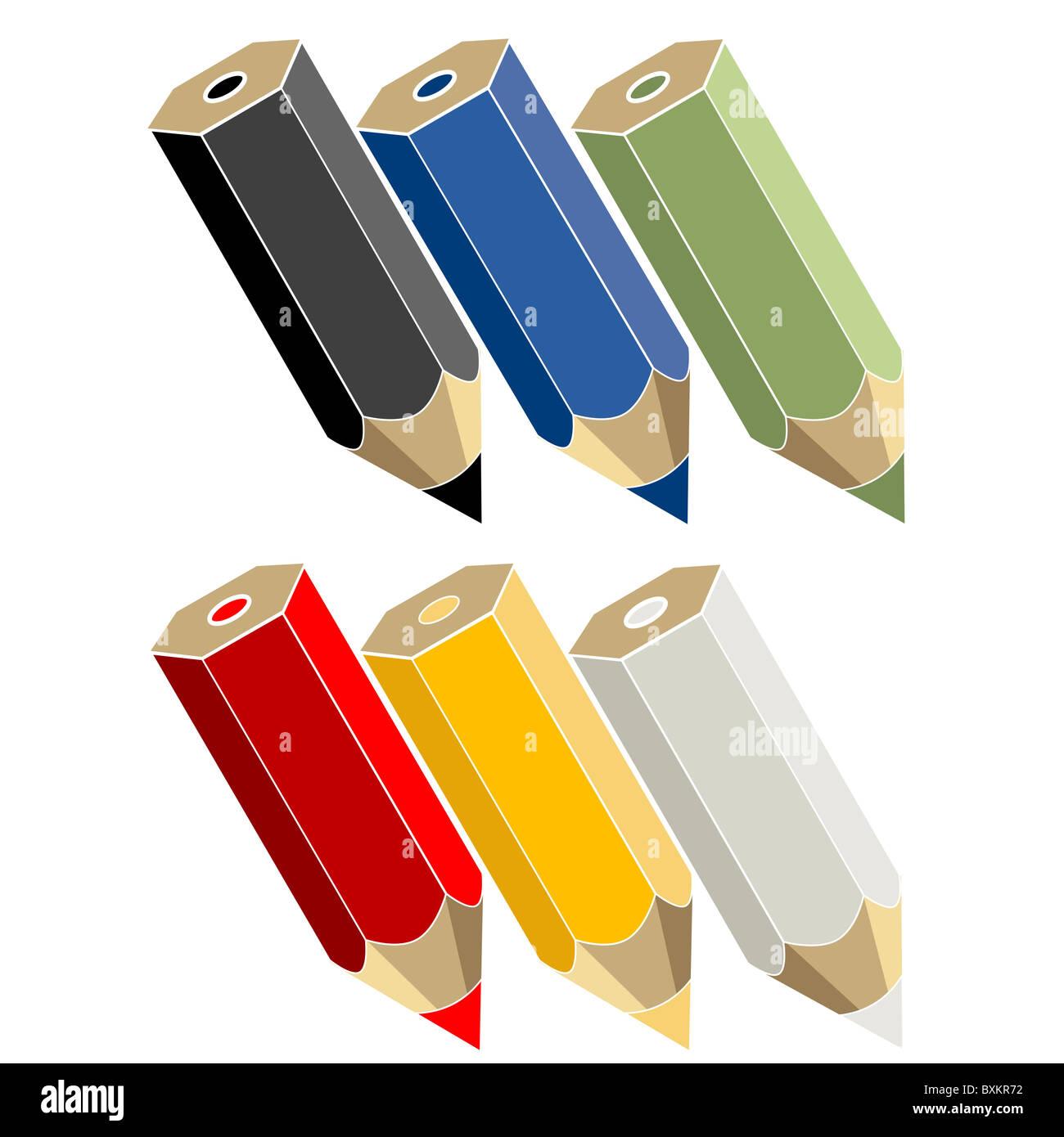 crayons - Stock Image