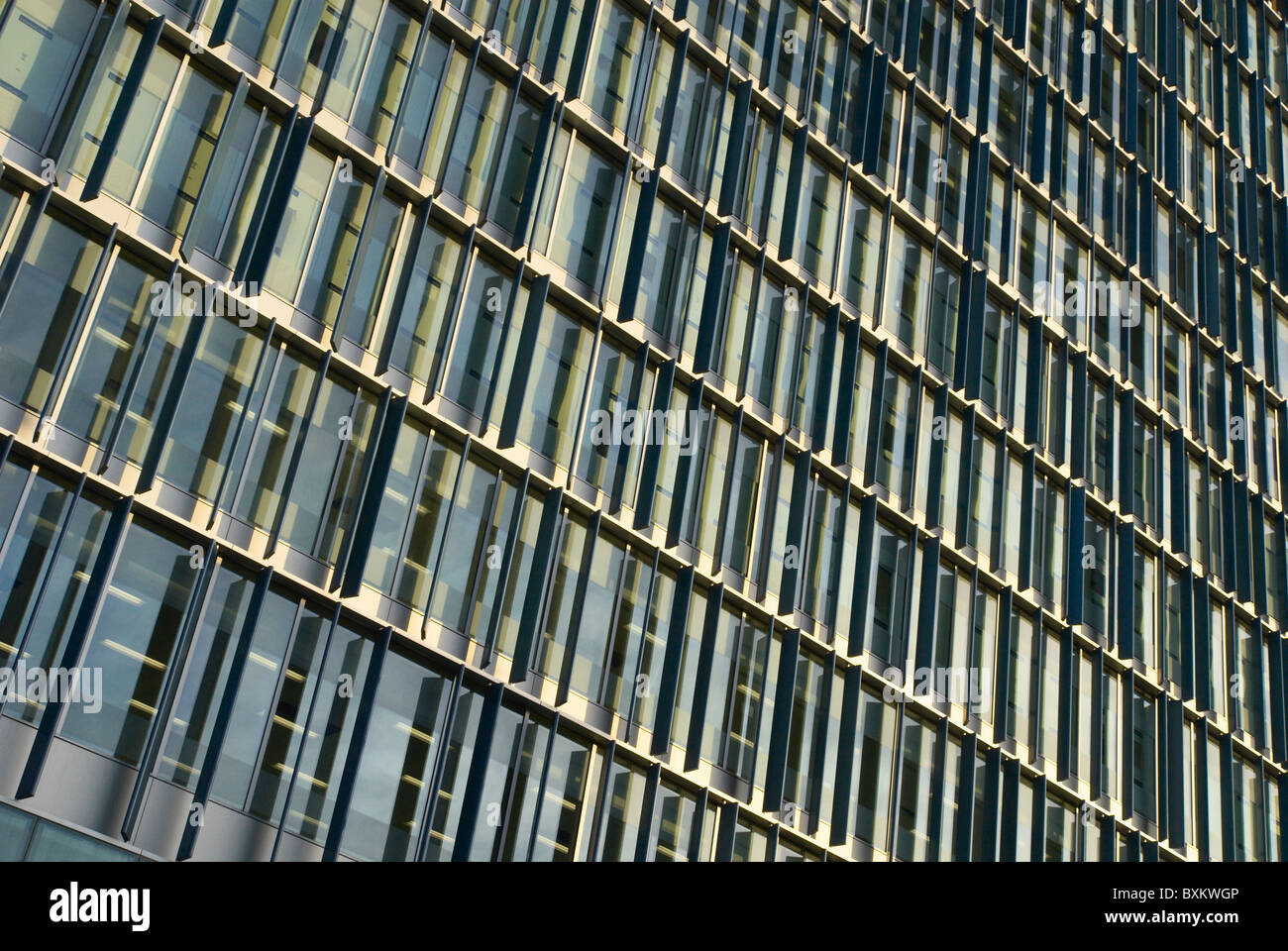 Abstract pattern of new building facade London UK - Stock Image