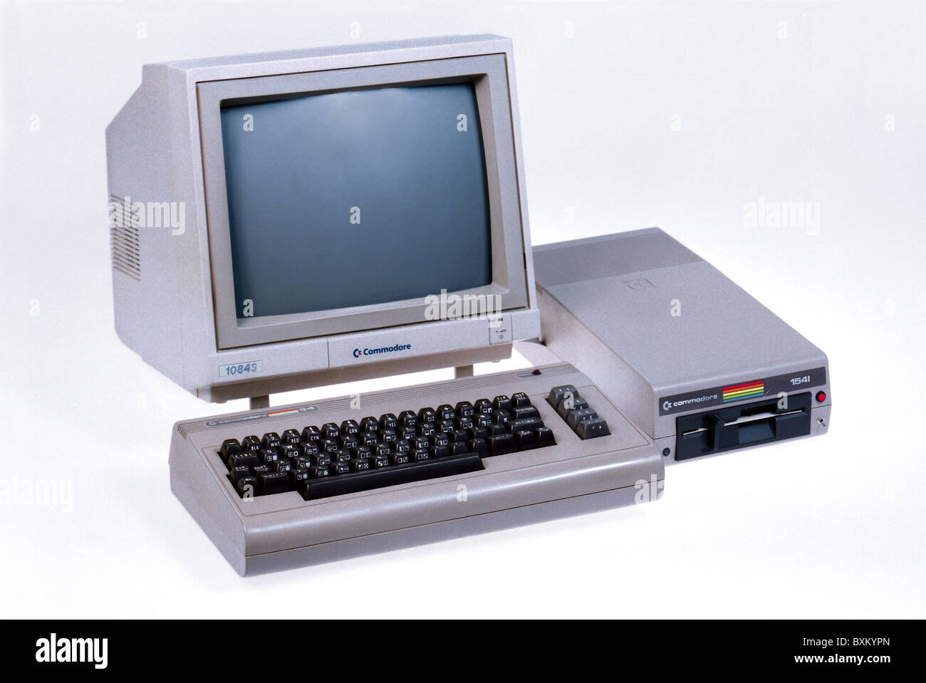 computing / electronics, computer, Commodore C64, 1982, 1980s, 80s, 20th century, historic, historical, C 64 Homecomputer, Stock Photo