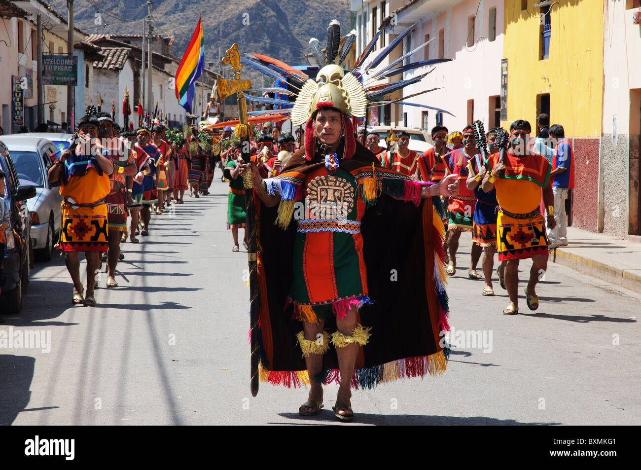 men-dressed-as-inca-warriors-in-a-parade