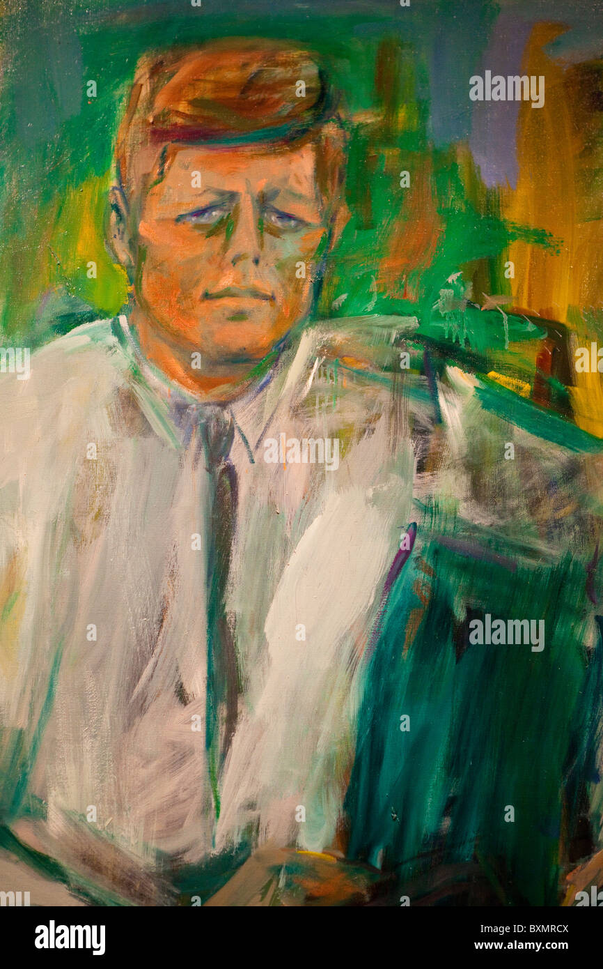 John F Kennedy Portrait Stock Photos & John F Kennedy Portrait Stock ...