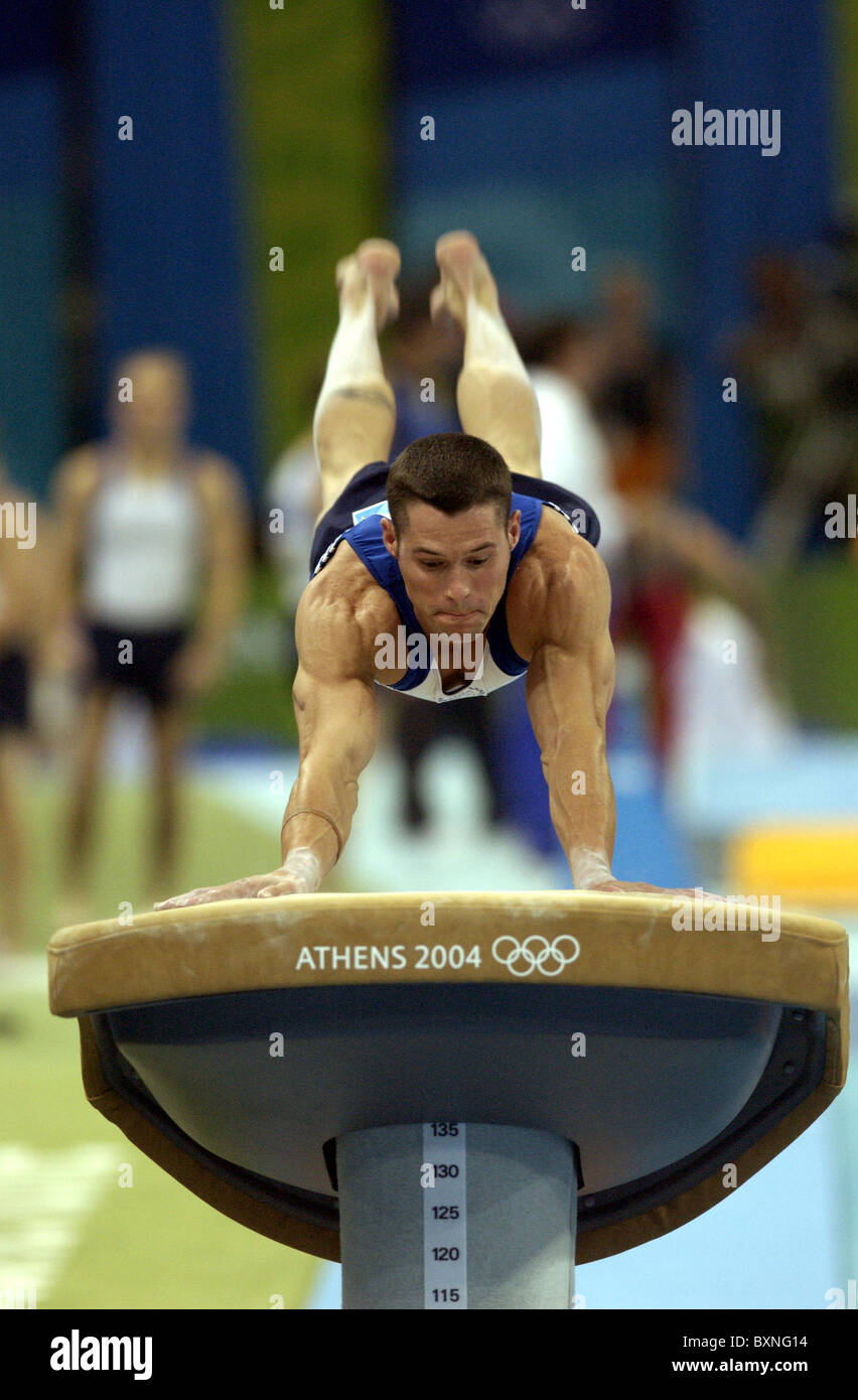 The Olympic Games Athens. 2004 Artistic Gymnastics. - Stock Image