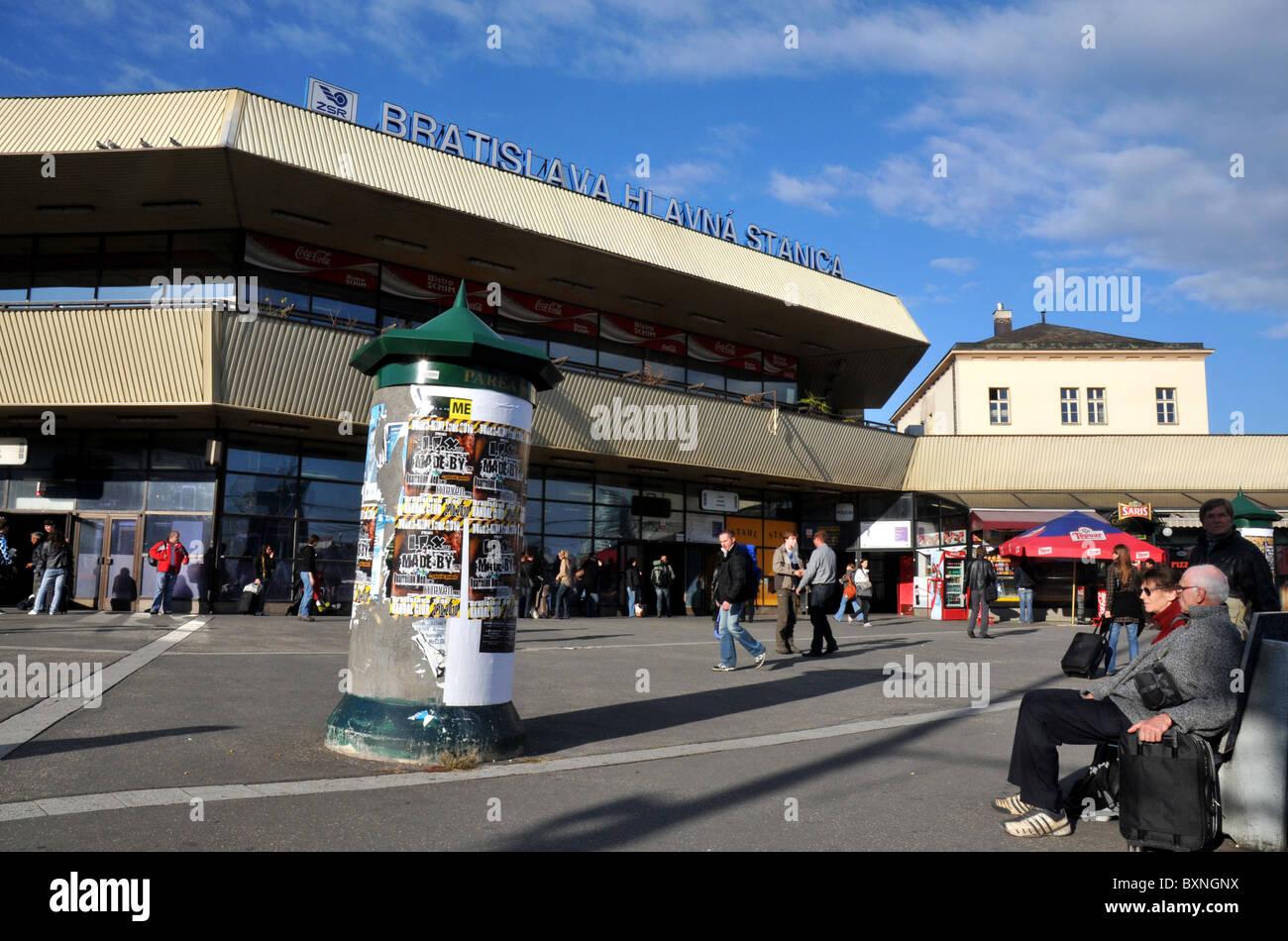 Bratislava, Main Train Station, Hlavna Stanica, Bratislava, Slovakia, Europe - Stock Image