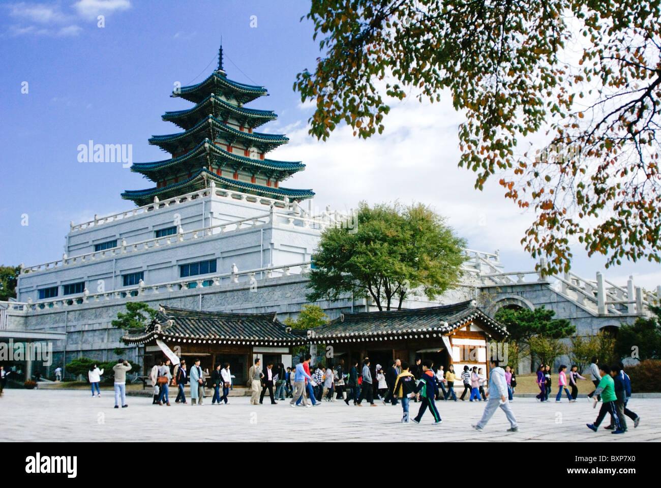 National Folk Museum, Seoul, South Korea - Stock Image