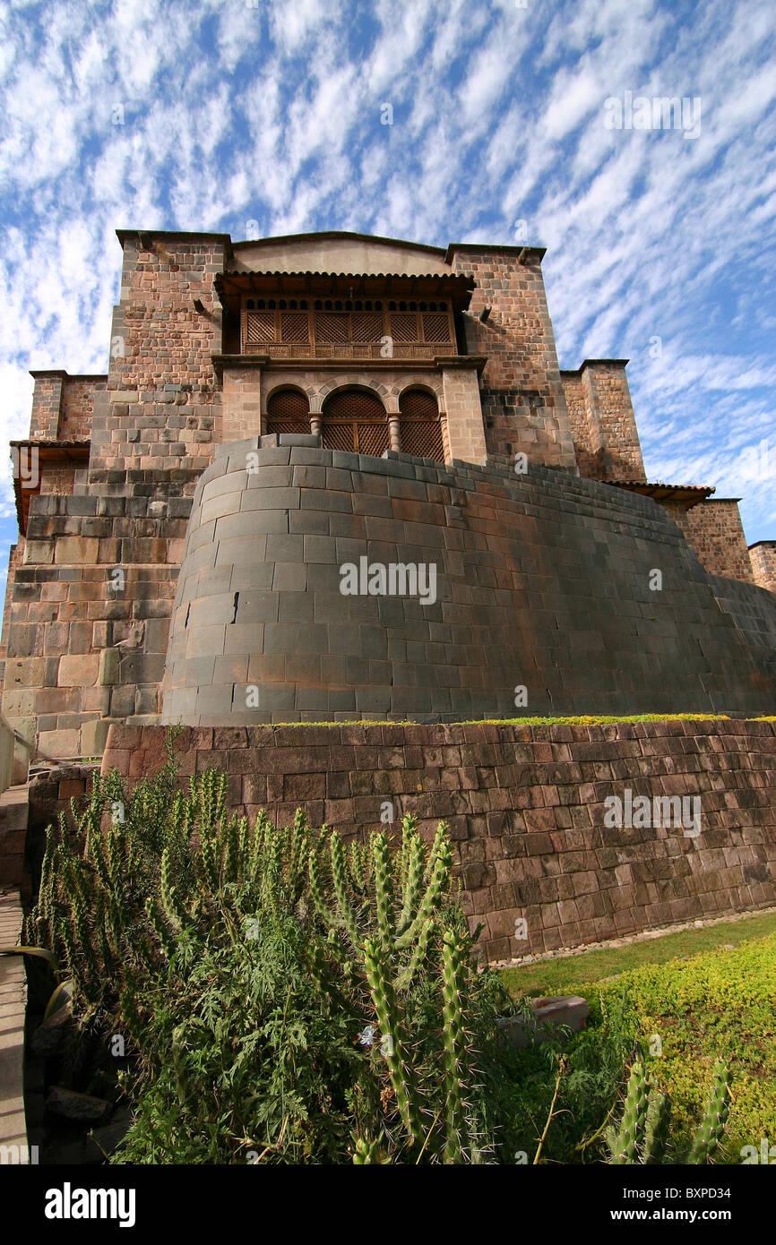 Coricancha Temple in Cusco Peru Stock Photo