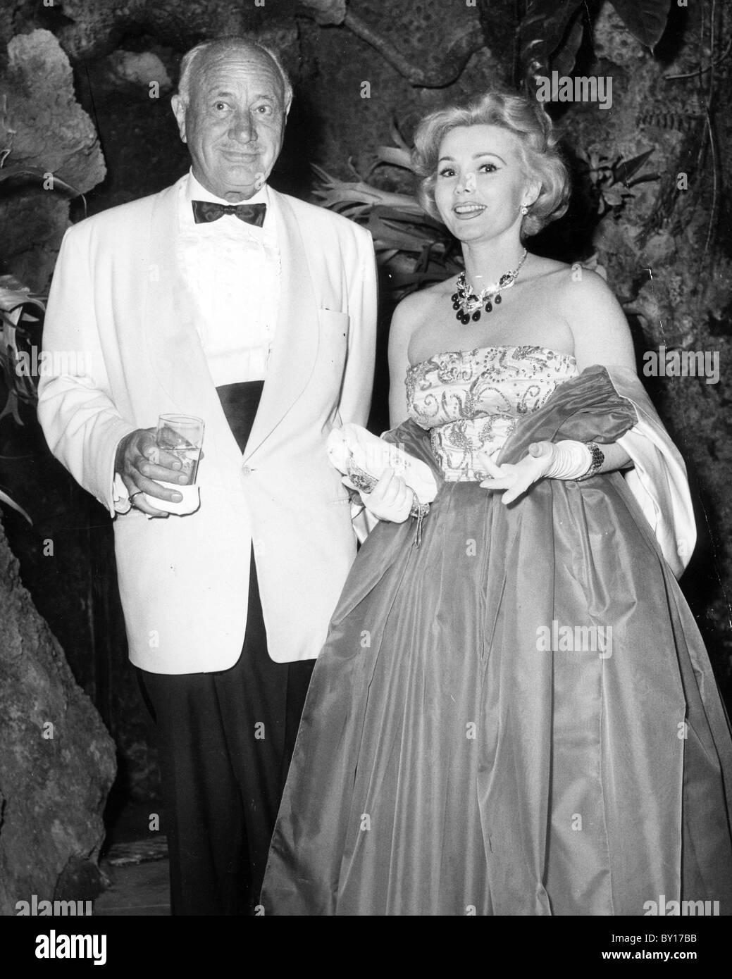 ZSA ZSA GABOR Hungarian-American actress with second husband Conrad Hilton (married 1942-1946) Stock Photo