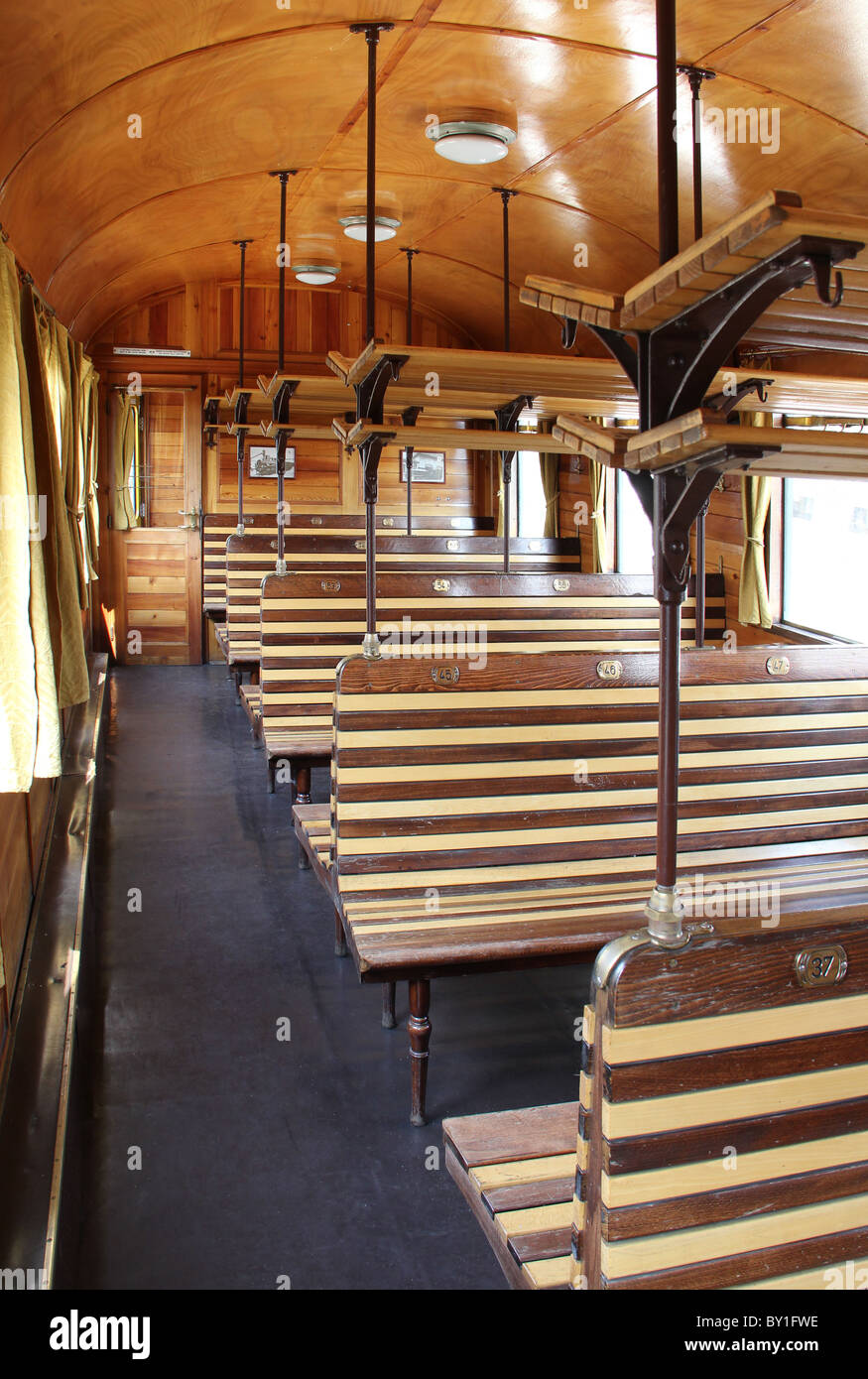 Old Wooden Train Seat Stock Photos Amp Old Wooden Train Seat