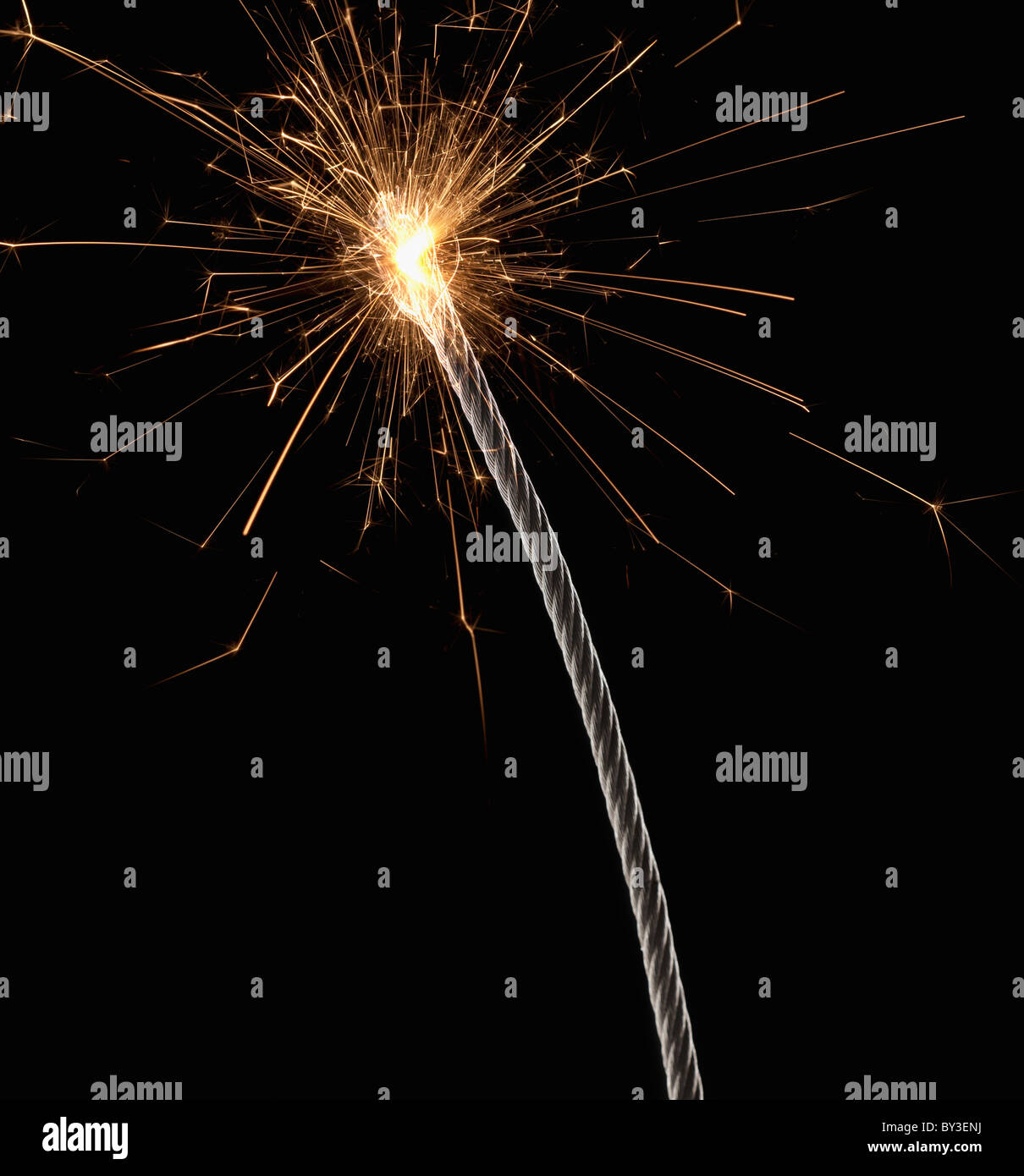 Burning wire, close-up - Stock Image